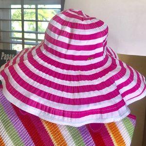 MUDPIE flexi hat in stripe summer fun pink!!!!
